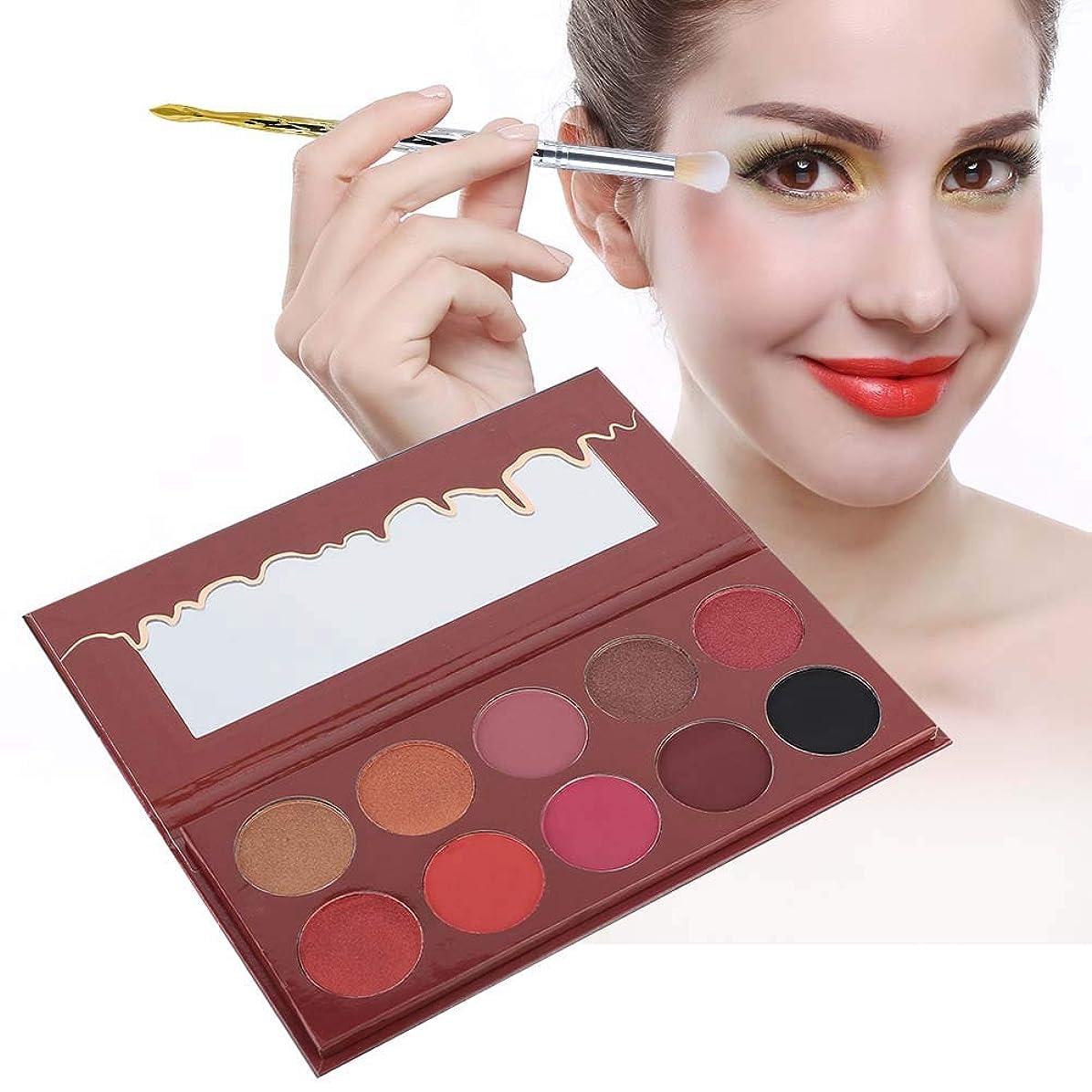北ロゴメロディアス10色 アイシャドウパレット アイシャドウパレット 化粧マット グロス アイシャドウパウダー 化粧品ツール