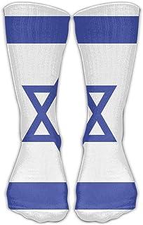 Hunter qiang, Calcetines largos de algodón con diseño de la bandera de Israel, 50 cm