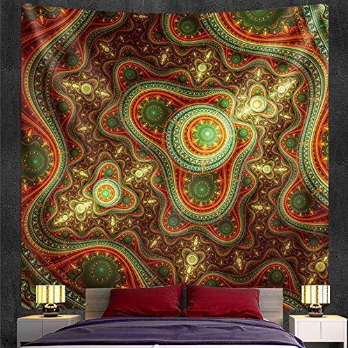 PPOU Tapiz de Mandala Indio, Tapiz de brujería, Colgante de Pared, Estilo Bohemio, Manta Decorativa, paño de Fondo A11, 73x95cm