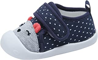Kuner Baby Girls Boys Cotton Breathable Rubber Sole Non-Slip Sneakers First Walkers Shoes