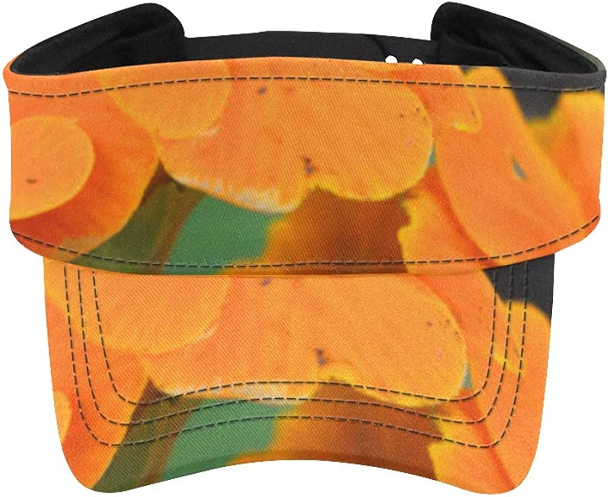 Visor Selling rankings Cap for Women Orange Running Leafs with We OFFer at cheap prices Flower Green
