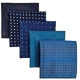 Shlax&Wing 5Stück sortierte Taschentücher für Herren quadratisch Gr. Einheitsgröße Set20