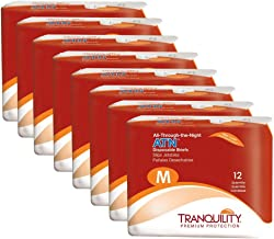 Tranquility ATN Adult Disposable Briefs with All-Through-The-Night Protection, M (32