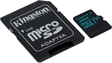 Kingston Canvas Go! 64GB microSDXC Class 10 microSD Memory Card UHS-I 90MB/s R Flash Memory Card with Adapter (SDCG2/64GB) (Renewed)