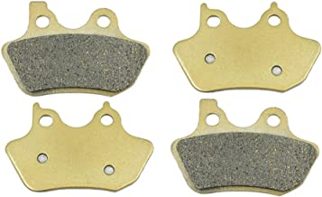 SYUU Motorcycle Replacement Front Rear Brake Pads Brakes for Harley Davidson XLH/XL Sportster 883 1200 XL 1200 C Sportster Custom XL 883 Sportster Standard 2000-2003 FA400F FA400R