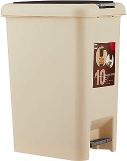 RC-Global Dustbin/Rubbish bin/waste bin/Press & Hand-free Step Rubbish Bin Premium Rectangle Steel Waste Office Kitchen Ba...