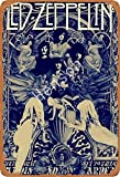 Henson Led Zeppelin Traditional Vintage Tin Sign Logo 12 * 8 Advertising Eye-Catching Wall Decoration