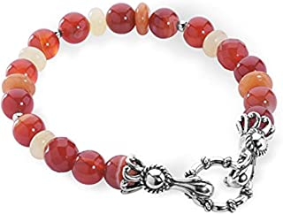 Carolyn Pollack Sterling Silver Multi Gemstone Choice of 4 Different Color Combinations Beaded Bracelet Size S, M or L