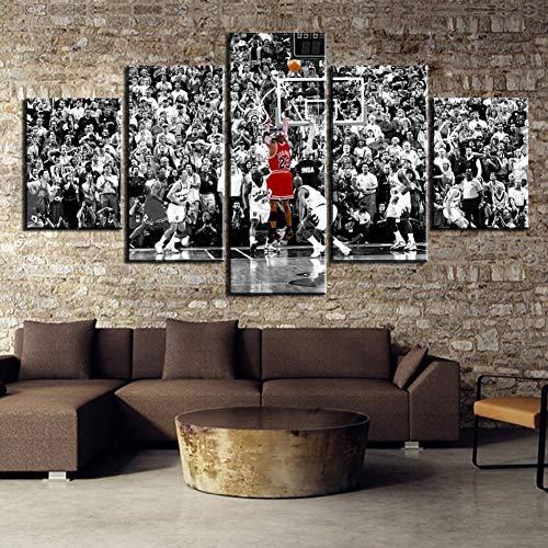 XLST 5 Stücke Michael Jordan Basketball Spiel Für die Moderne Dekorativ Schlafzimmer Wohnzimmer Zuhause Bild,A,30X50X230X70X230X80X1