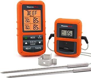 ThermoPro TP20 Thermomètre de Cuisson Numérique à Distance avec Sondes Double Minuterie et Température Préréglée pour Les ...