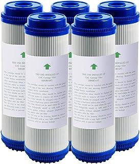 """LZH FILTER Lot de 5 Cartouches filtres à Eau au Charbon Actif Granulaire UDF 10"""" x 2.8"""" pour système de Filtre à Osmose In..."""