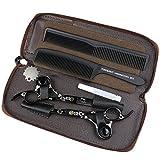 FOMALHAUT schwarze Titan professionelle Haarschere, 5,5 Zoll japanische 440C Stahl Haarschere, Friseur Schere dünne Schere, schöne Taschen