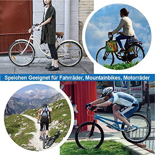 sinzau Bicycle Spoke 38 Pieces Mountain Bike Spoke with Spoke Nipple, Silver, 258-283 mm