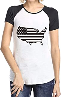 3D Printing Raglan T Shirt Short Sleeve Tshirts Never Disarm The American Flag tee