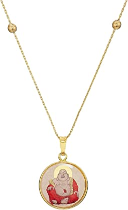 Saints and Sages Laughing Buddha Expandable Necklace