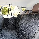 ELITIST Autoschondecke für Hunde,Kofferraumschutz Rundumschutz Mit Sitzanker,Wasserdicht Undurchlässig Einfache Reinigung,Auto Hundedecke Hund autositz 140 * 130(cm) Schwarz,Alle Modelle gelten