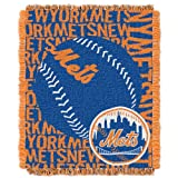 The Northwest Company MLB New York Mets 'Double Play' Woven Jacquard Throw Blanket, 48' x 60' , Blue
