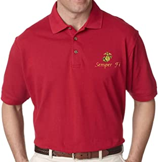 red marine corps polo