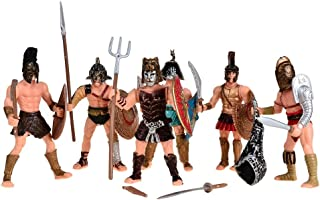 BOHS Medieval Spartan Army Warriors Rome Empire Gladiator Soldiers with Weapon or Shield Action Figures Toy