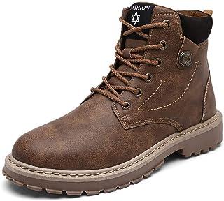 416d57c0 Zapatillas de Hombre, Botas de Cuero de los Hombres de la Moda de otoño e