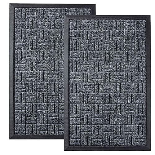 Quick Dry Heavy Duty Doormats Green 29x17 Fade Resistant Traps Dirt and Absorbs Moisture Busy Areas Gorilla Grip Original Ultra Water Absorbent Door Mat Indoor Outdoor Entry Mats