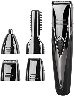 Mens Hair Clippers Set, Body Trimmer, 5 In 1 Hair Clipper, Shaving Eyebrow and Nose Hair Trimmer, Used for Trimming Beard,...