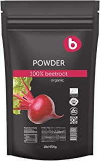 Bobica's PREMIUM European Organic Beetroot Powder | 1lb/454g | Superfood, Iron, Boost Stamina and Increases Energy, Nitric Oxide Boosting Supplement | 100% Pure, Non-GMO, Gluten-Free |