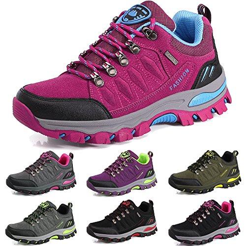BOLOG Outdoor-Halbschuhe, Wanderschuhe, rutschfeste Kletterschuhe, leicht, atmungsaktiv, Trekkingschuhe für Damen und Herren, Pink - rose - Größe: 38 EU