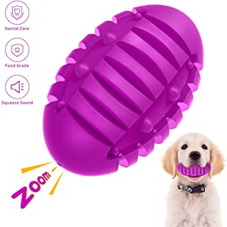 ABTOR Squeaky Dog Toy for Aggressive Chewers Large Breed - Almost Indestructible Durable Dog Chew Toy with Squeaker - Interactive Ball Toy for Medium Small Dog Puppy Chew Teething- Bacon Flavor
