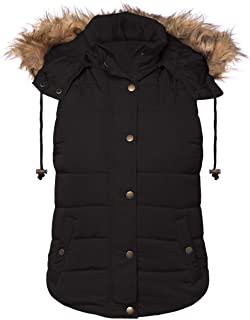 Women's Hooded Padding Puffer Vest - Sleeveless Outwear Jacket