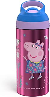 Peppa Pig 19.5oz Stainless Steel Water Bottle Pink/Blue