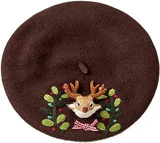 NOMIMAS Winter Wool Lovely Funny Frog Beret Hat Cute Green Gift Novelty Beret Handmade Girl Winter Fashion