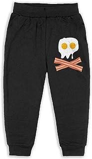 Easionerol Bacon Egg Skulls Child Long Sweatpants Jogger Trousers