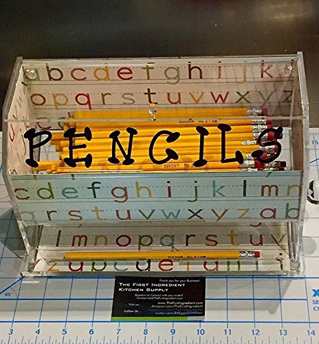 Pen and Pencil Dispenser Clear Acrylic Teachers Favorite Ready to Decorate - As Seen on Pinterest