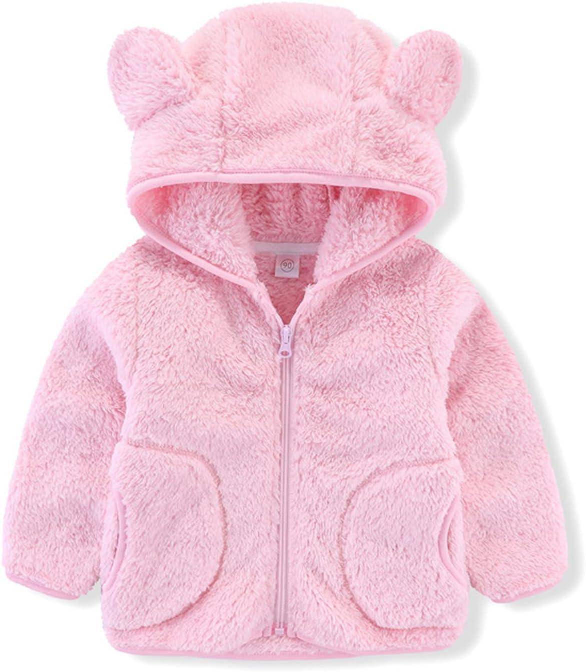 Baby Kids Boys Girls Fleece Full Zip So Up Bear Hoodie with Ears NEW before selling Max 79% OFF ☆