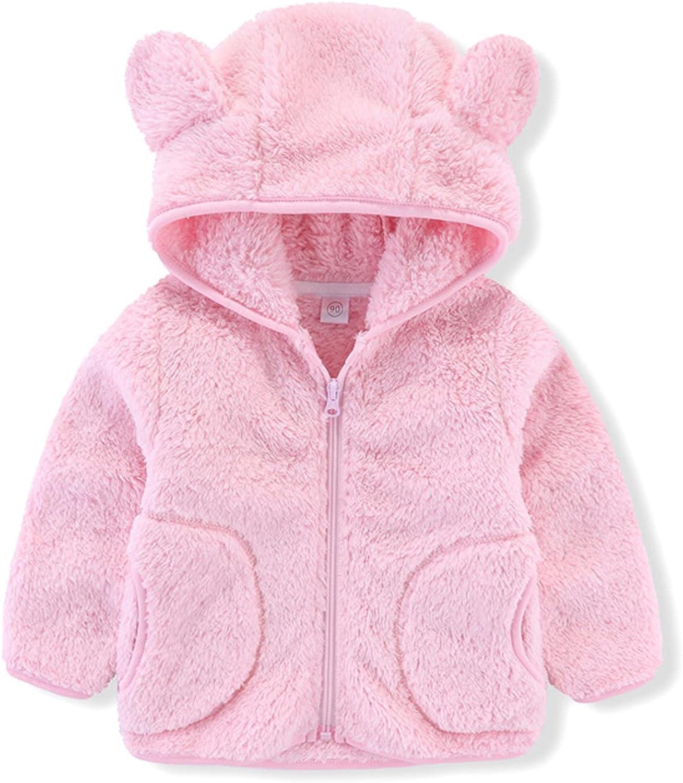Toddler Girl Fleece Jacket Kids Girl Boy Jacket Children's Fleece Hooded Winter Coat Outerwear