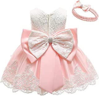 KILO&METERS Christening Lace Flower Baby Girl Dress Princess Formal Prom Tutu Ball Gown