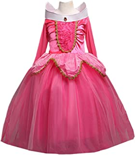 DreamHigh Sleeping Beauty Princess Aurora Party Girls Costume Dress 2-10 Years