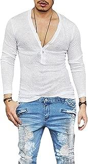 Men's Deep V Neck Slim Fit Short Sleeve T-Shirt Tee Tops