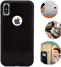 Anti Gravity iPhone X Case, iPhone Xs Case, Magic Nano Suction Sticky Black Anti Gravity Phone case for iPhone X/Xs Hands Free Selfie Stick on Smooth Surface Shell Back Cover with dust Proof Film