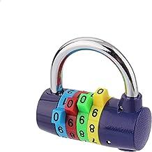 Kleur 4 hangslot, fitnessstudio, wachtwoordslot, diefstalbeveiliging, kledingkast slot, 150 g, meerkleurig