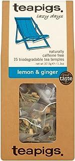 Teapigs Zitronen- und Ingwerteebeutel, Hergestellt aus Ganzen Blättern 1 Packung mit 15 Teebeuteln