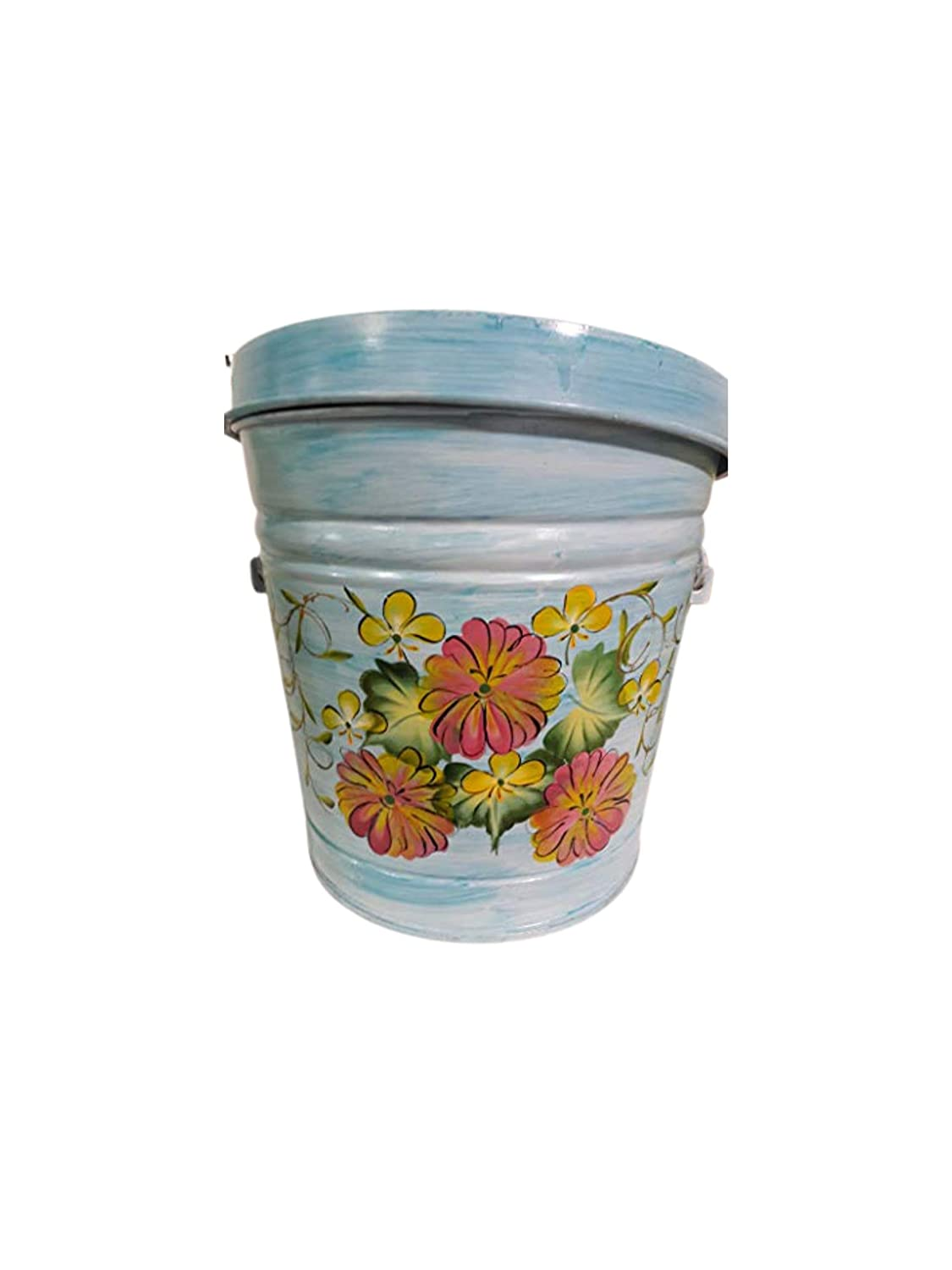 Miami Mall 6 Gallon Hand Painted Trash Sales for sale Can Decorative Garbage