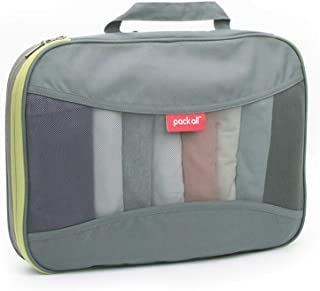 pack all 旅行用圧縮収納バッグ 衣類整理 ポーチ スーツケース整理 メッシュ 収納 スペース節約