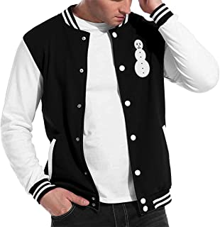 Bgrrdgrev Jeezy Snowman Cotton 3D Printed Baseball Jackets Uniform