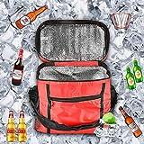 Bolsas De Picnic,bolsa térmica pequeña,Bolsa Comida Térmica,Bolsa Térmica Plegable,Adecuado para uso en la oficina, picnics, viajes, campamentos y otras actividades al aire libre. (rojo)
