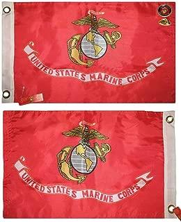 Double Sided 2Ply Usmc Marines Marine Corps 12X18 Solarmax Nylon Boat Car Flag