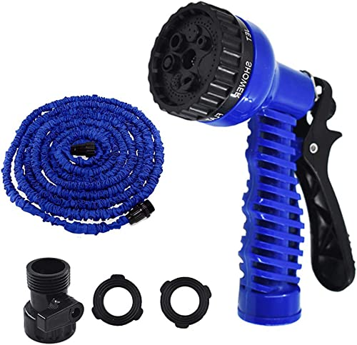 high quality Expandable Garden Hose Pipe, Flexible Garden sale Water Hose w/ Spray Nozzle,25/50/75/100 FT Garden Hose with 7 Function Spray Nozzle, 3 Times Expanding for Garden, Car, and outlet sale Pet Washing (Blue,75FT) sale