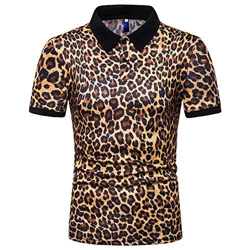 ZYUD Men's Short Sleeve T-Shirt Camouflage Print Casual Top Lapel Polo Shirt Print Retro Summer Pullover Leisure Slim Fit Blouse Fashion Lapel Collar Cotton T-Shirt Pullover Sweatshirt Gym