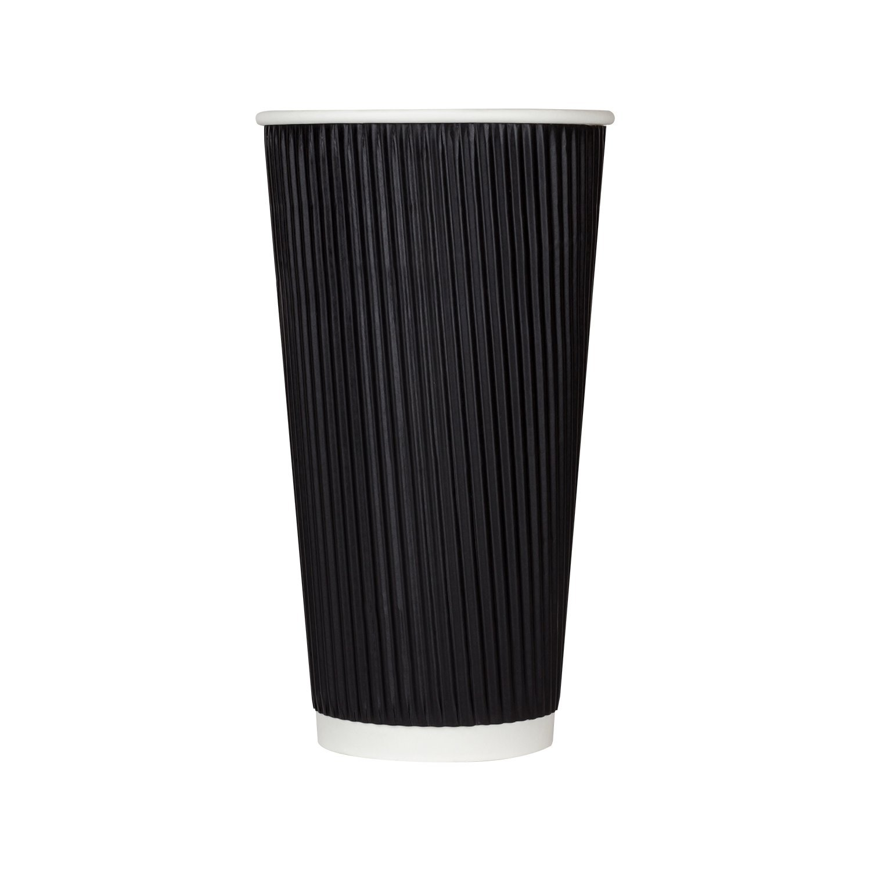 Karat C-KRC520B 20 oz Ripple Paper Hot 500 Award Popular Cups Black Case of -